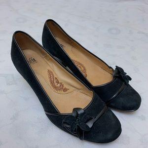 Sofft Suede Leather Black Pumps Sz 6.5